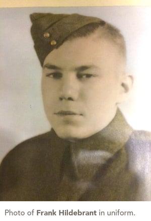 Photo of Frank Hildebrant  in uniform