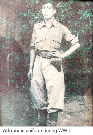 Alfredo in uniform during WWII.