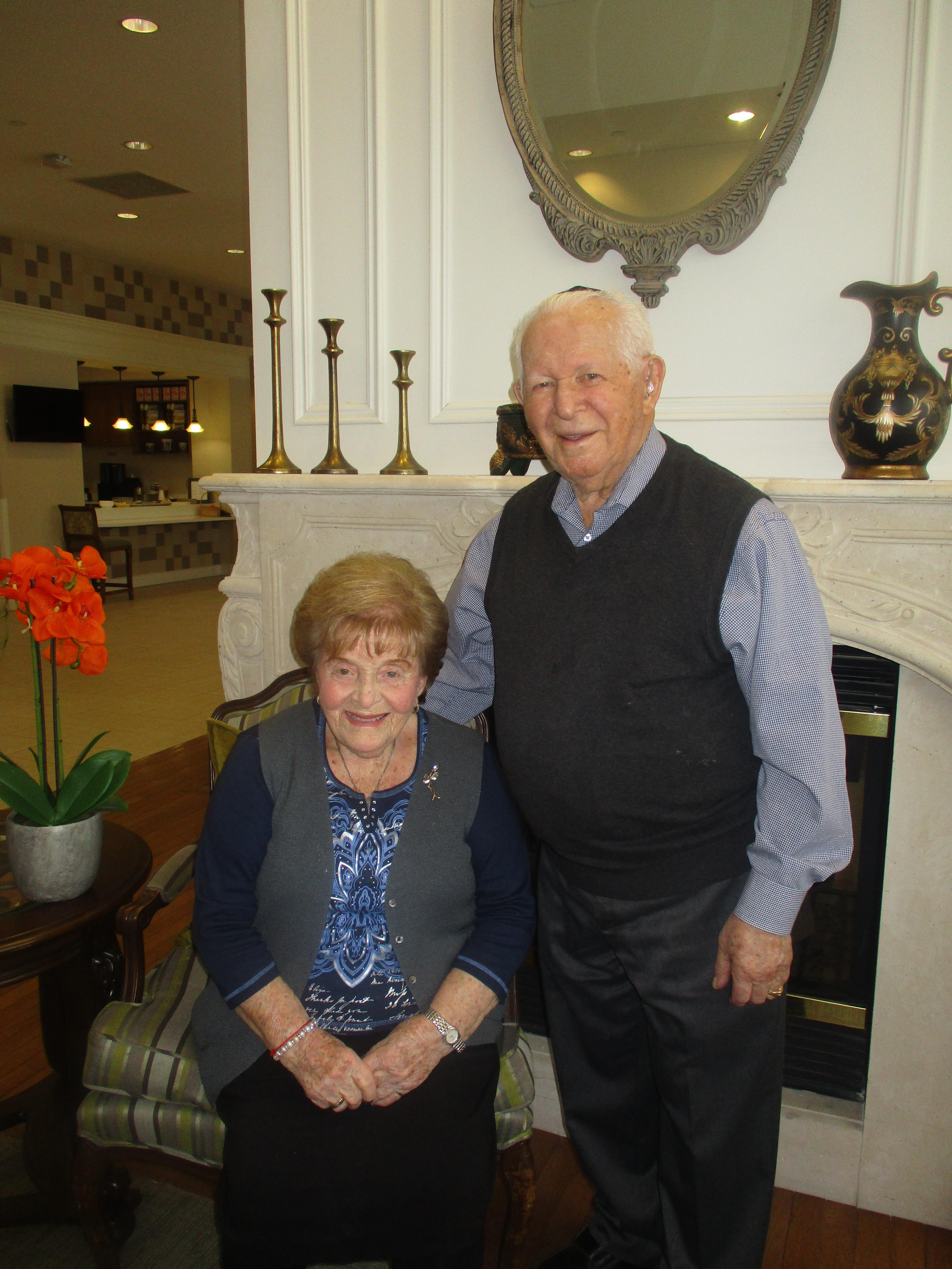 Nancy and Howard pose for a picture at Kensington Place Retirement Residence, where they live