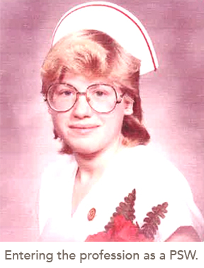 picture of Ruth when she was entering the profession as a PSW