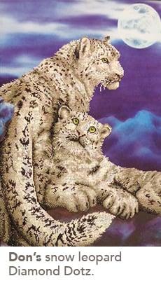 Don's snow leopard Diamond Dotz.