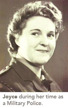 picture of Joyce during her time as a Military Police