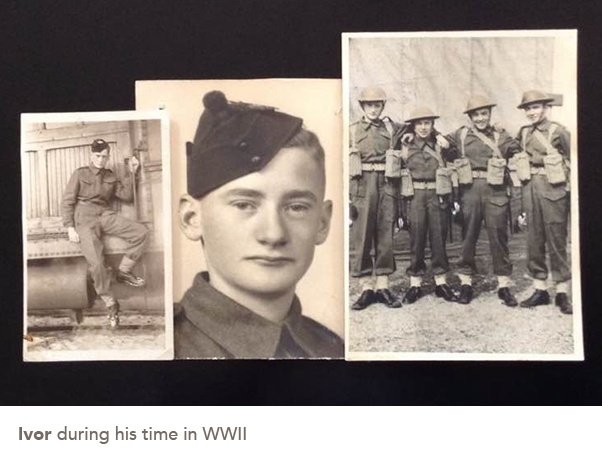 picture of Ivor during his hime in WWII