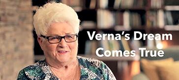 Verna's dream of attending university has finally come true