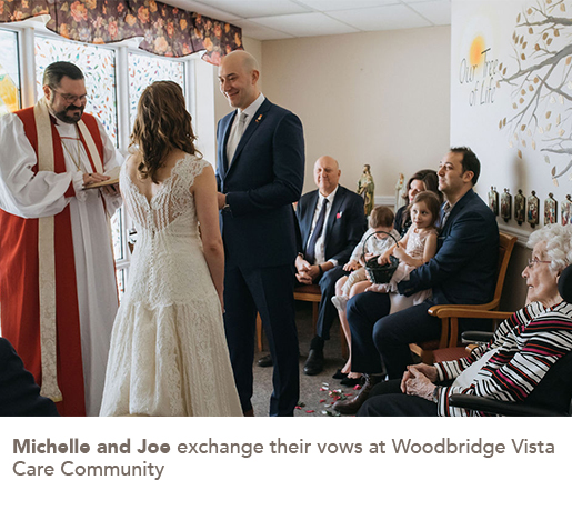 113: Michelle and Joe exchange their vows at Woodbridge Vista Care Community