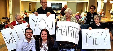 She said 'Yes' to marriage proposal at Masonville Manor