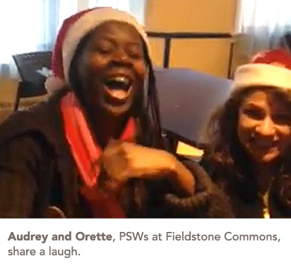 Audrey and Orette laughing