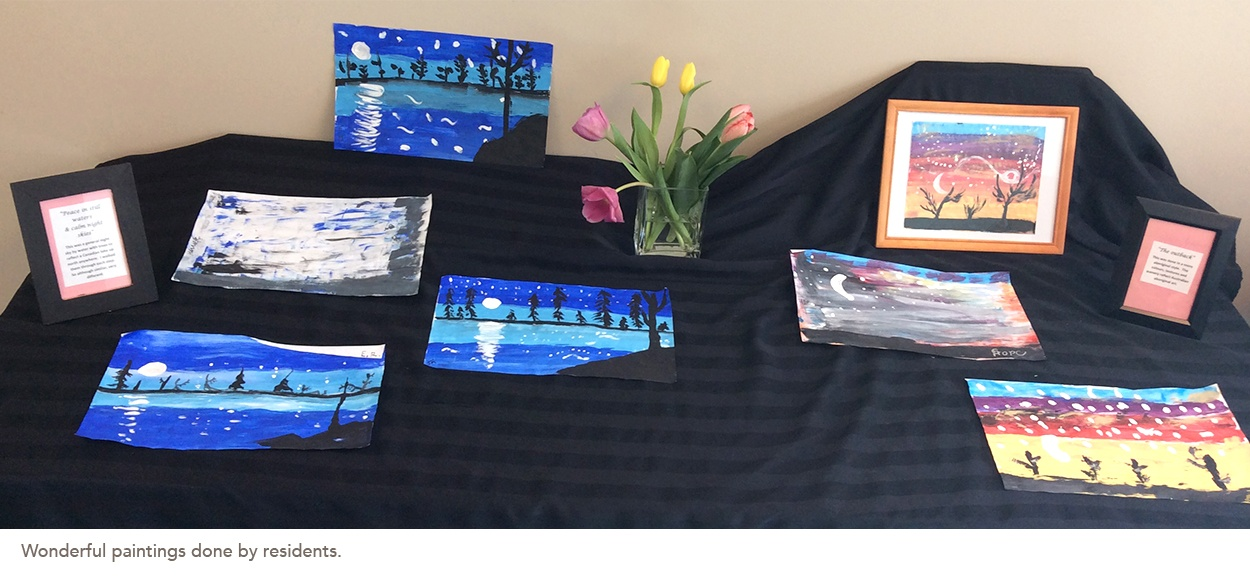Wonderful paintings done by residents