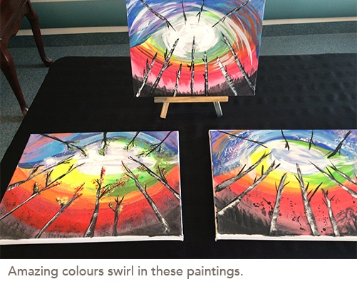 picture of amazing colours swirl paintings