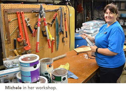 picture of Michele in her workshop