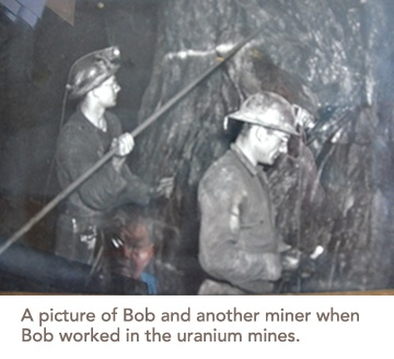 picture of Bob and another miner