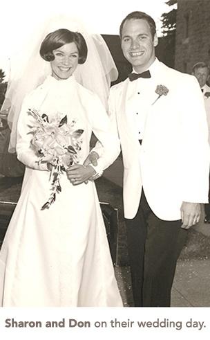 Sharon and Don's wedding photo