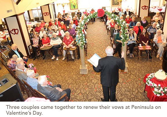 The ceremony at Peninsula Retirement Residence in Surrey