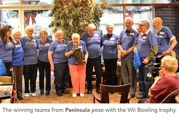 group photo of the winning team