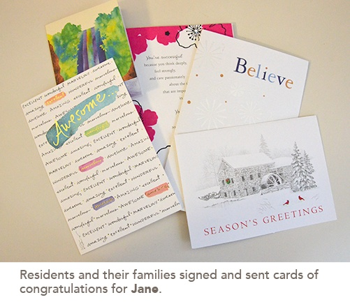 picture of congratulations cards for Jane