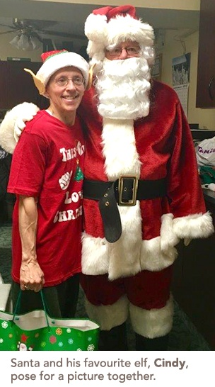 Cindy and santa