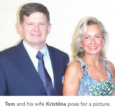 picture of Tom and his wife Kristiina