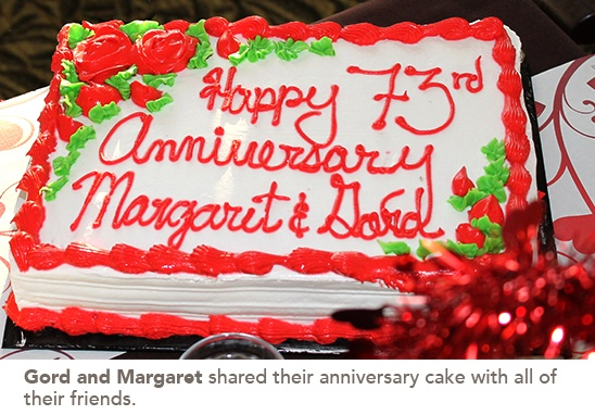 Anniversary cake of Gord and Margaret