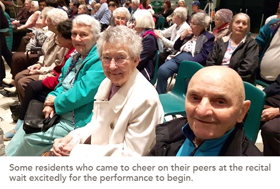 picture of residents who came to the recital