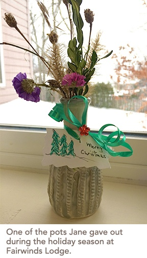picture of one of the pots created by Jane