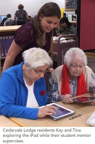 First High School Cyber-Seniors Partnership is a Win-Win