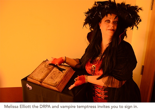 Melissa Elliott the DRPA and vampire temptress invites you to sign in