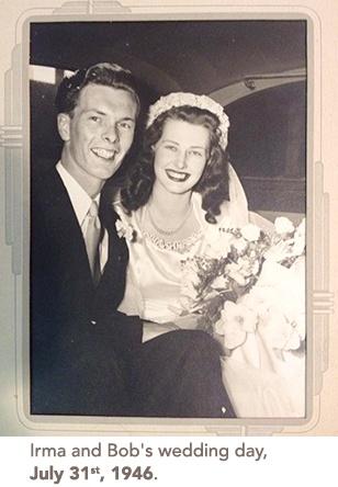 Wedding photo of Irma and Bob
