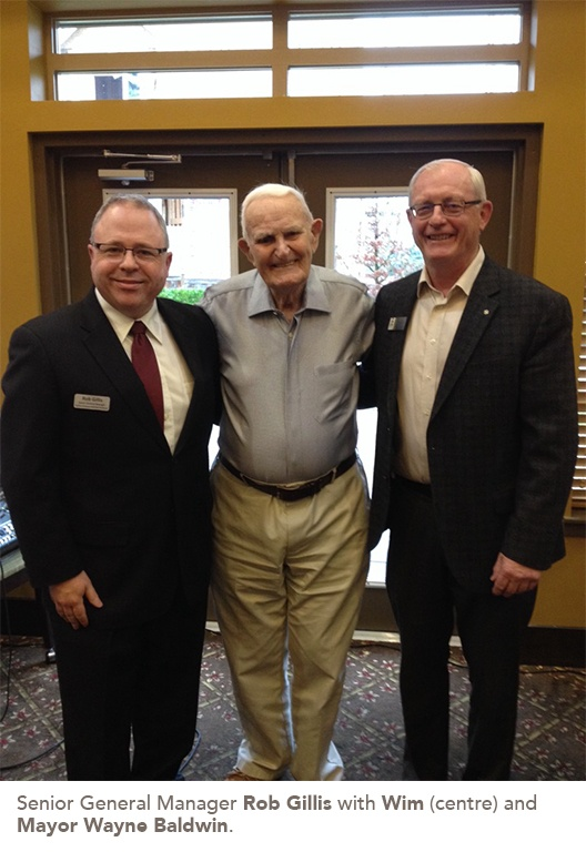 Rob Gillis with Wim and Mayor Wayne Baldwin.