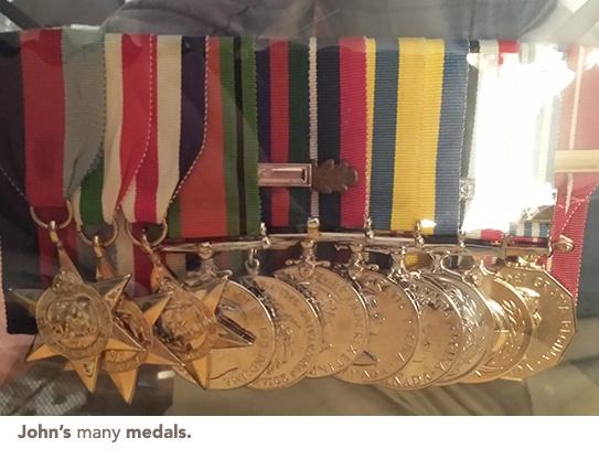 John's medals