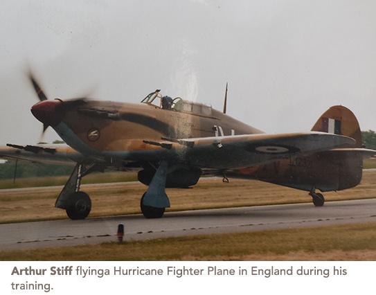art stiff flying a hurricane fighter plane