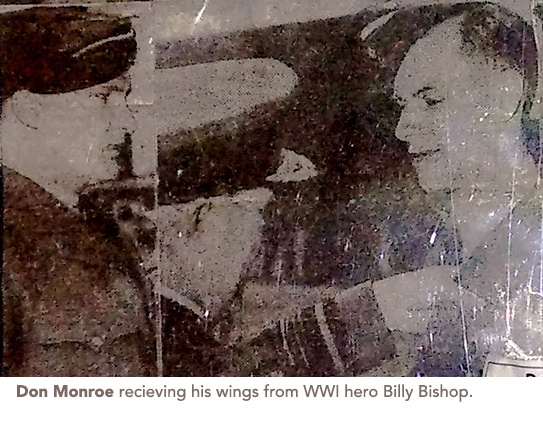 Don Monroe getting his wings